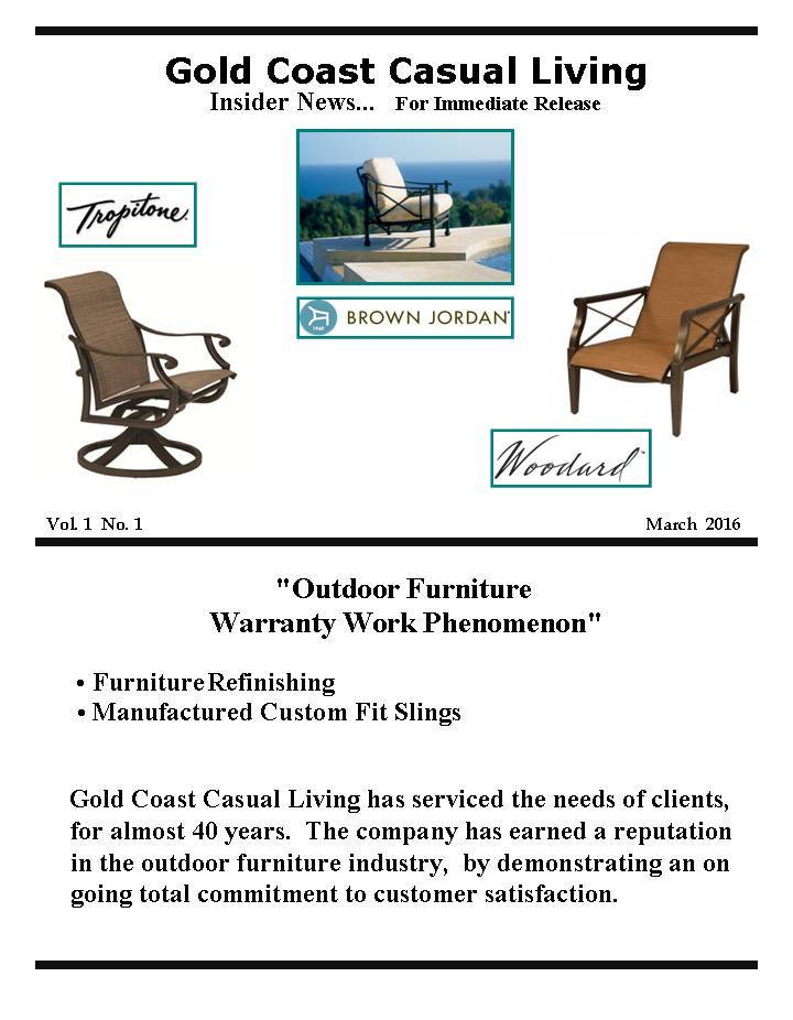 Outdoor Furniture Warranty Work - Outdoor Furniture - Gold Coast Casual Living